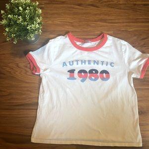 "Zara ""Aunthentic 1980"" Graphic Tee"